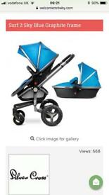 Silver Cross Surf 2 Blue Pushchair