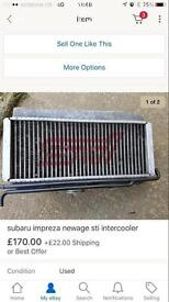 Subaru STI top mount intercooler