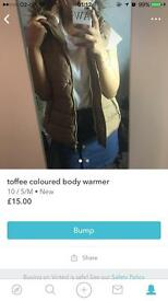 Toffee coloured body warmer