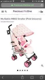 My babiie unicorn mb02 stroller pushchair pram