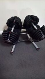 Bowflex 1090 Adjustable Dumbbells with Stand in VGC USED 5 TIMES MAX! (powerblock, dumbells 10-90lb)