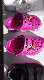 pink shoes size 22