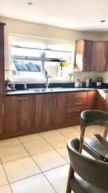 Walnut Kitchen inc. fridge/freezer, dishwasher and extractor