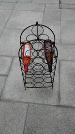 Metal framed wine rack – 18 bottle capacity