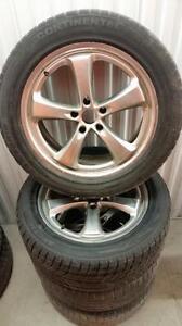 (188) Pneus Hiver - Winter Tires 255-50-19  3x Continental RunFlat 1x Hemisphere