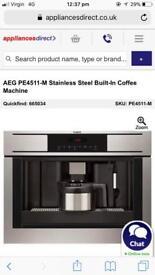 AEG PE4511-M Stainless Steel Built-In Coffee Machine