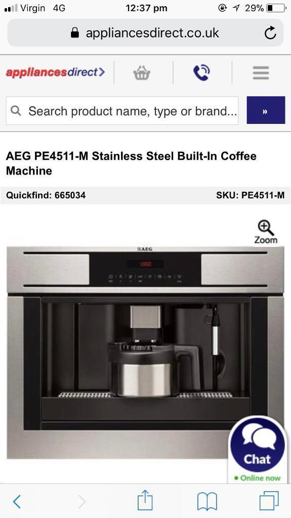 Aeg Pe4511 M Stainless Steel Built In Coffee Machine In Great Sankey Cheshire Gumtree