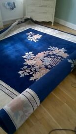 Chinese Wool Rug Navy Blue