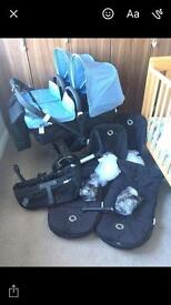 Bugaboo donkey twin black special edition