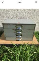 Industrial veteran series 4 drawer metal cabinet - roller drawers - putty grey - STILL AVAILABLE