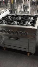 Commercial 6 burner gas burner cooker catering restaurant hotels pubs cafe equipments