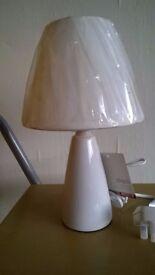 Table Lamp, Dimensions 30.5cm x 18cm x 18cm,