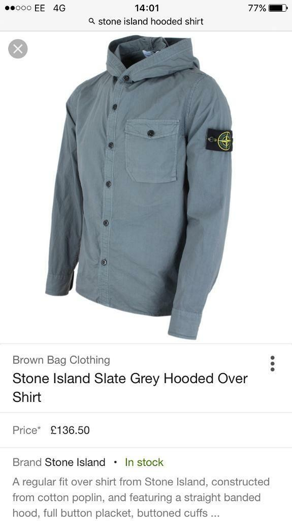 Stone Island Hooded Shirt (135RRP)