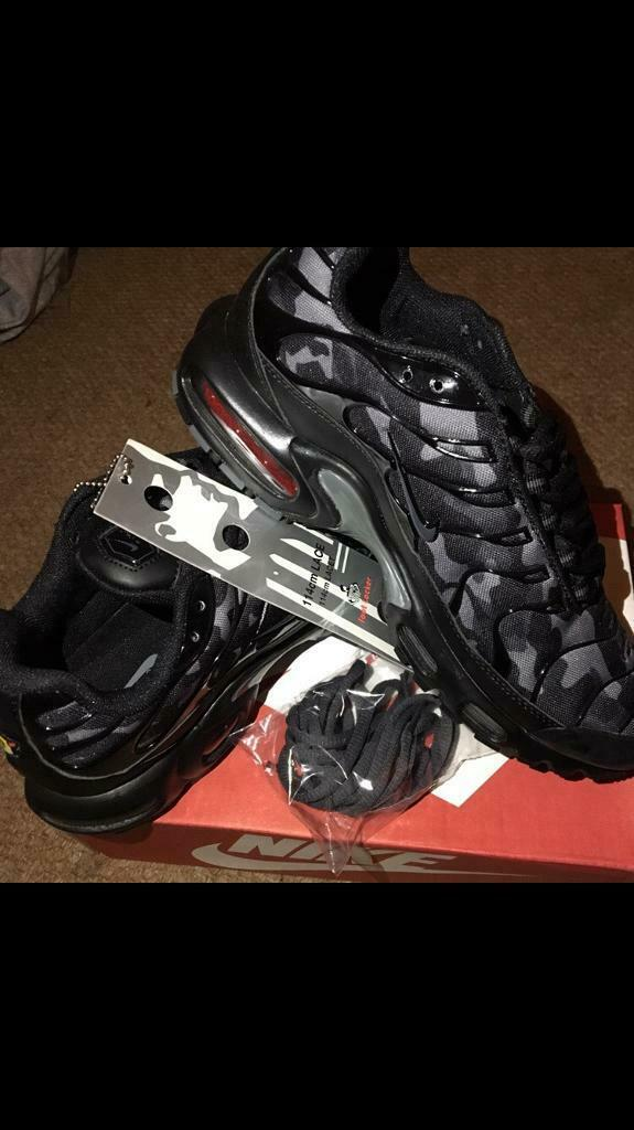 on sale 5d5f6 de3e5 SIZE 8 9 10 BRAND NEW NIKE TN BOXED TRAINERS TNs black camo (NOT) 270 720  90 97 air max | in Erdington, West Midlands | Gumtree