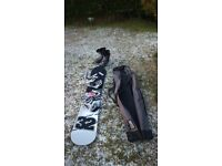 SnoPro snowboard with boots and bindings