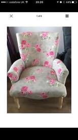 Shabby chic floral tub chair