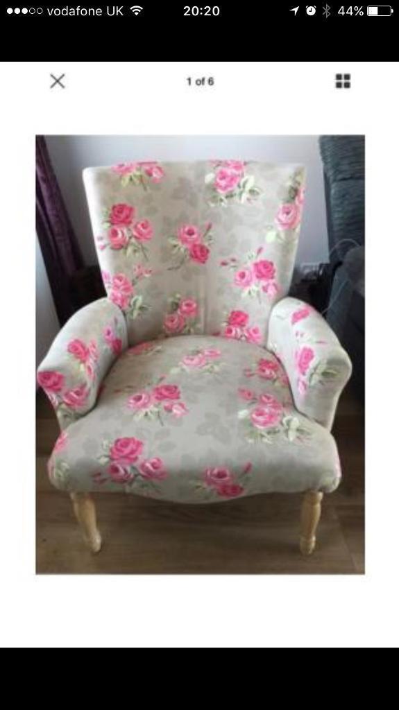 shabby chic floral tub chair in churchdown gloucestershire gumtree