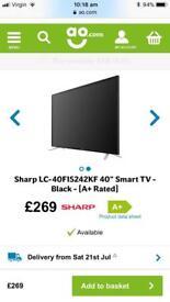 Sharp tv 40 inch hd smart tv