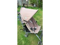 Maclaren Triumph Stroller with Rain Cover and Lascal Buggy Board