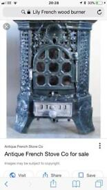 French antique Victorian fire place stove