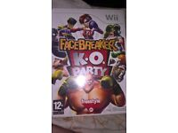 Facebreaker KO Party wii game