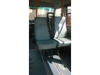 Iveco single minibus seats, with fitted seatbelts, easy to wipe clean £35 each (15 available)
