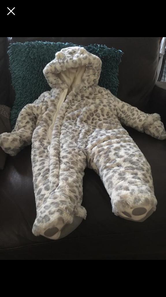 Leopard Snowsuit - Mothercare - Size 6-9 Months