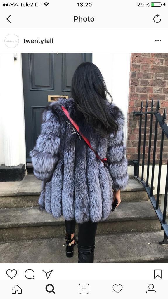 Real silver fox coat-vest