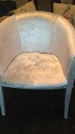 Silver and glitter chair