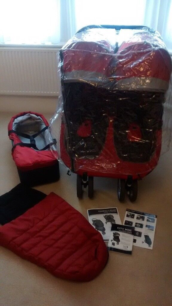 Citi Mini Double Buggy + Carry Cot, Rain Cover and Footmuff