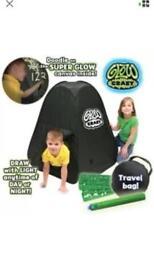 Glow crazy tent