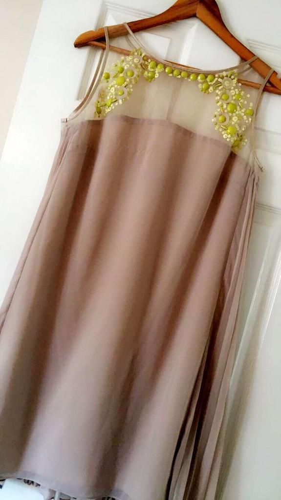 Coast dress nude size 12 -14