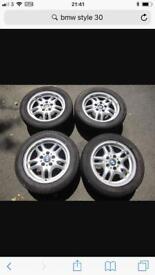 4 x E36 BMW alloy wheels (style 30)