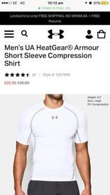 Under Armour Compression Top and Rival Fleece Hoodie