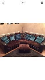 Corner sofa and footrest
