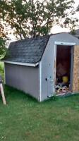 8 x 12 plywood walled shed. solid 1.25 floor