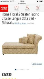Argos Chaise Longue double Sofa Bed £175 as new