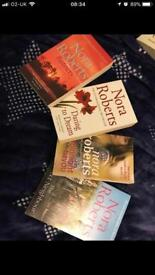 Four Nora Roberts books