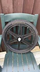 "BMX Wheels 20"" with Diamondback tyres."