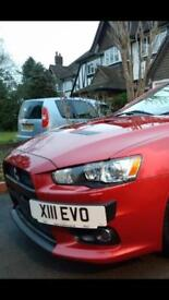 Evo X number plate