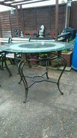 Free glass top table