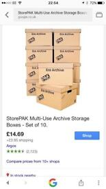 Storage archive boxes
