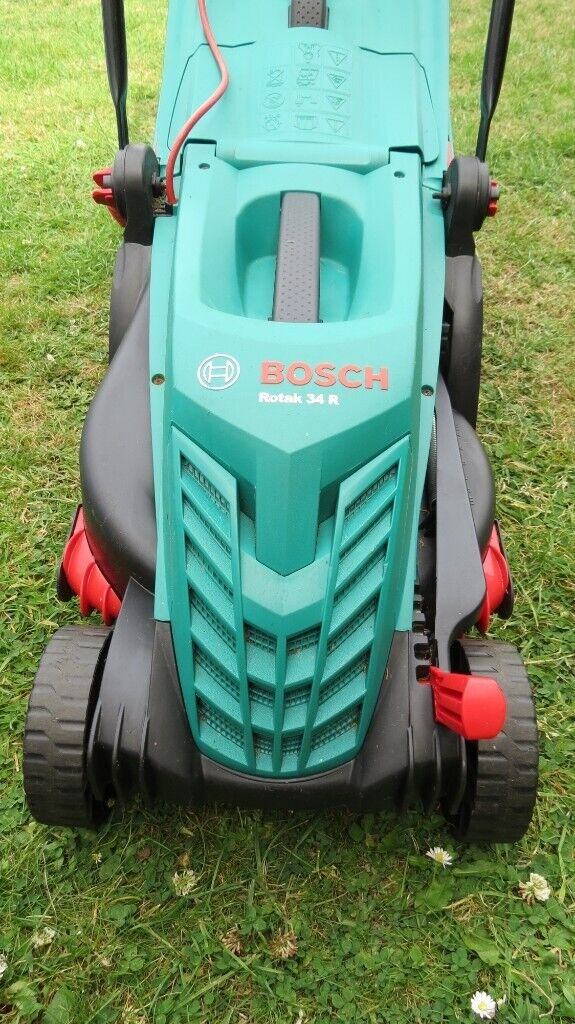 BOSCH ROTAK 34R Electric Rotary Lawn Mover 1300 W, 3400 rpm | in Ruislip,  London | Gumtree
