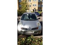 2003 Silver Nissan Micra, 5 door manual