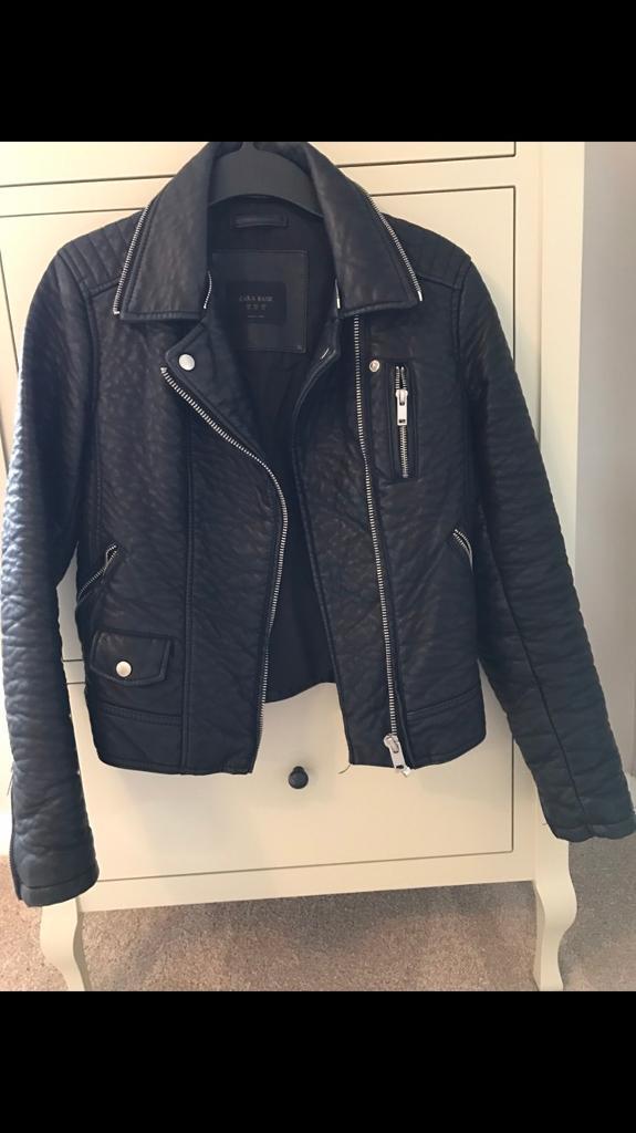 Zara faux leather jacket XS