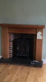 Wood fireplace, excellent condition