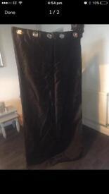 Black satin curtains 72''