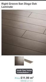 Laminate floor grey wood effect
