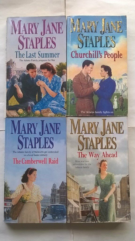 4 Mary Jane Staples Books The Adams Family Series The Way Ahead, Churchill's People, Last Summer