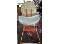 Mamia high chair, excellent condiiton, occasional use